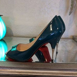 Authentic Louboutin open toe heels with